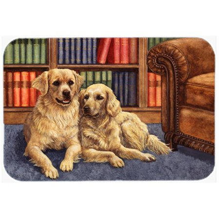 Golden Retrievers in the Library Mouse Pad, Hot Pad or Trivet - image 1 de 1