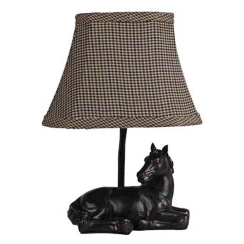 "AHS Lighting 06624 - 1 Light 11"" ""Meadow Rest"" Horse Lamp"