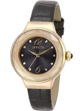 Invicta 29784 Womens Angel Quartz 3 Hand Black Dial Watch