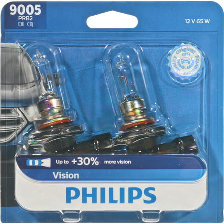 Philips Vision headlight 9005, Pack of 2 (9005 Phillips Xtreme Vision)