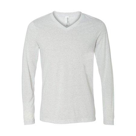 51775403555 Bella + Canvas - 3425 Bella + Canvas T-Shirts - Long Sleeve Unisex Long  Sleeve V-Neck Tee - Walmart.com