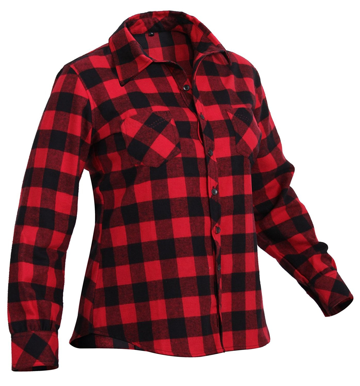 0a56ae120 Rothco Womens Plaid Flannel Shirt - Red, Small - image 1 of 1 zoomed image