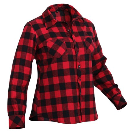 b01173abfc6 Rothco Womens Plaid Flannel Shirt - Red, Small - image 1 of 1 ...