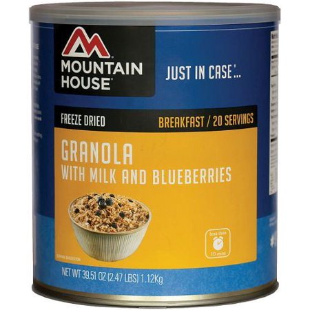 Mountain House 290449 Granola With milk & Blueberry Can, Pack of 1