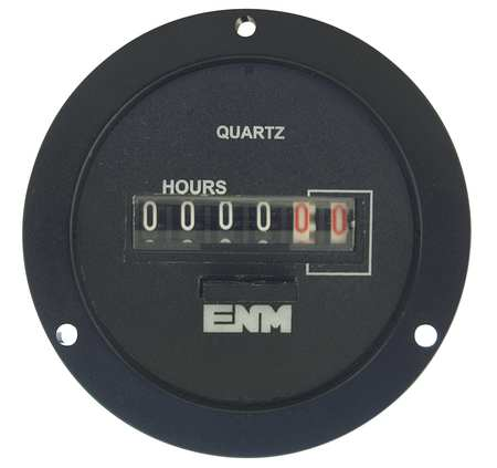 ENM T55A2A Hour Meter, Electrical, 2.68In, 3Hole Round
