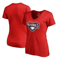 Washington Nationals Fanatics Branded Women's Plus Sizes Cooperstown Collection Huntington T-Shirt - Red