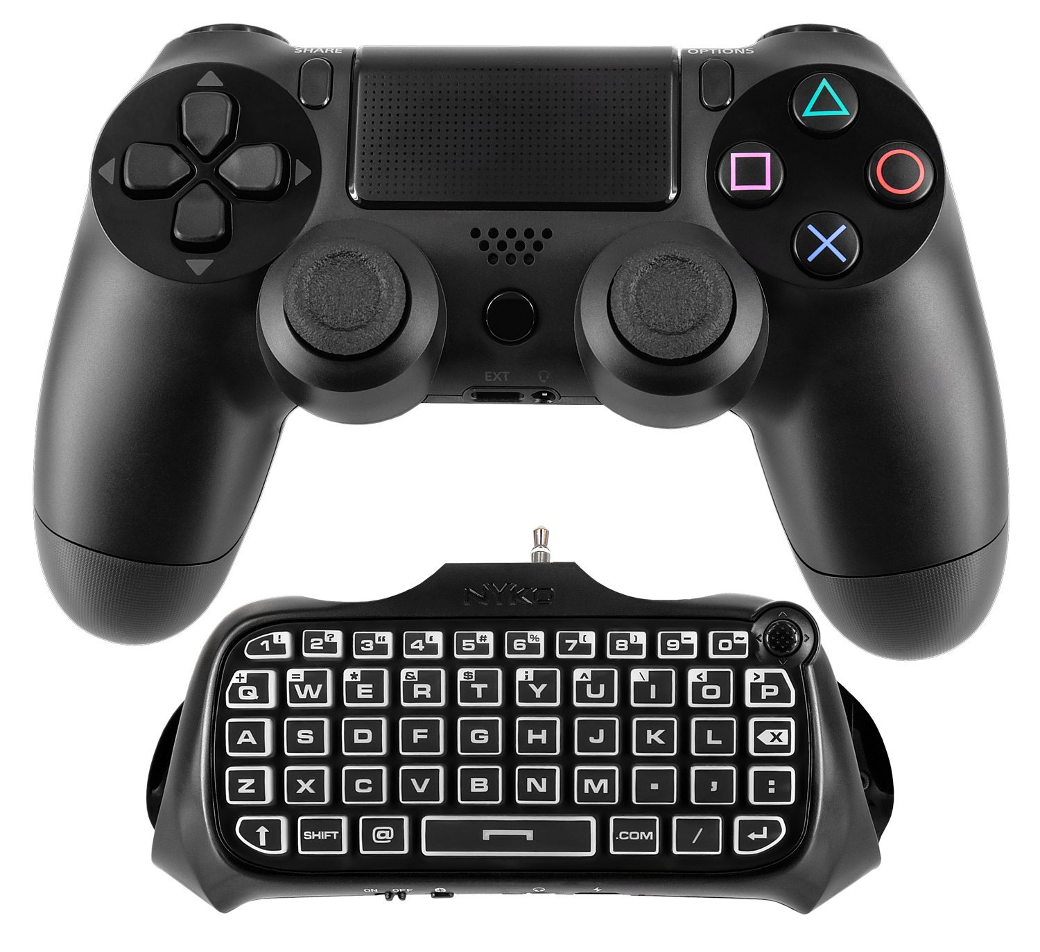 Nyko Keyboard - Wireless Connectivity - Bluetooth - Compatible With Gaming Console - Qwerty Keys Layout (83222_2)