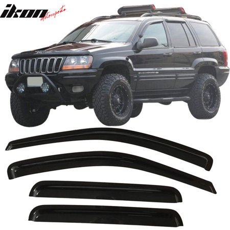 Fits 99 04 Jeep Grand Cherokee Acrylic Window Visors 4pc Set