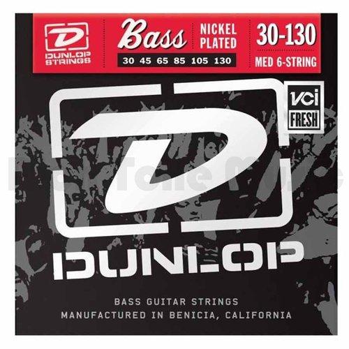 Dunlop DBS30130 Medium Stainless Steel Bass Guitar 6 String Set, .030-.130