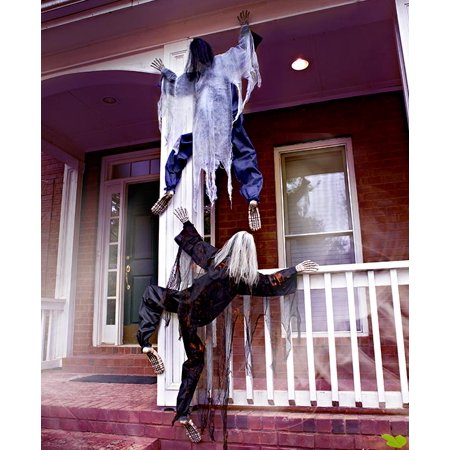 63 Days Until Halloween (KNL Store 63 Life Size Climbing Zombies Halloween Haunted House Prop Decor)