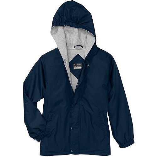 George Boys School Uniforms Jersey Lined Hooded Jacket