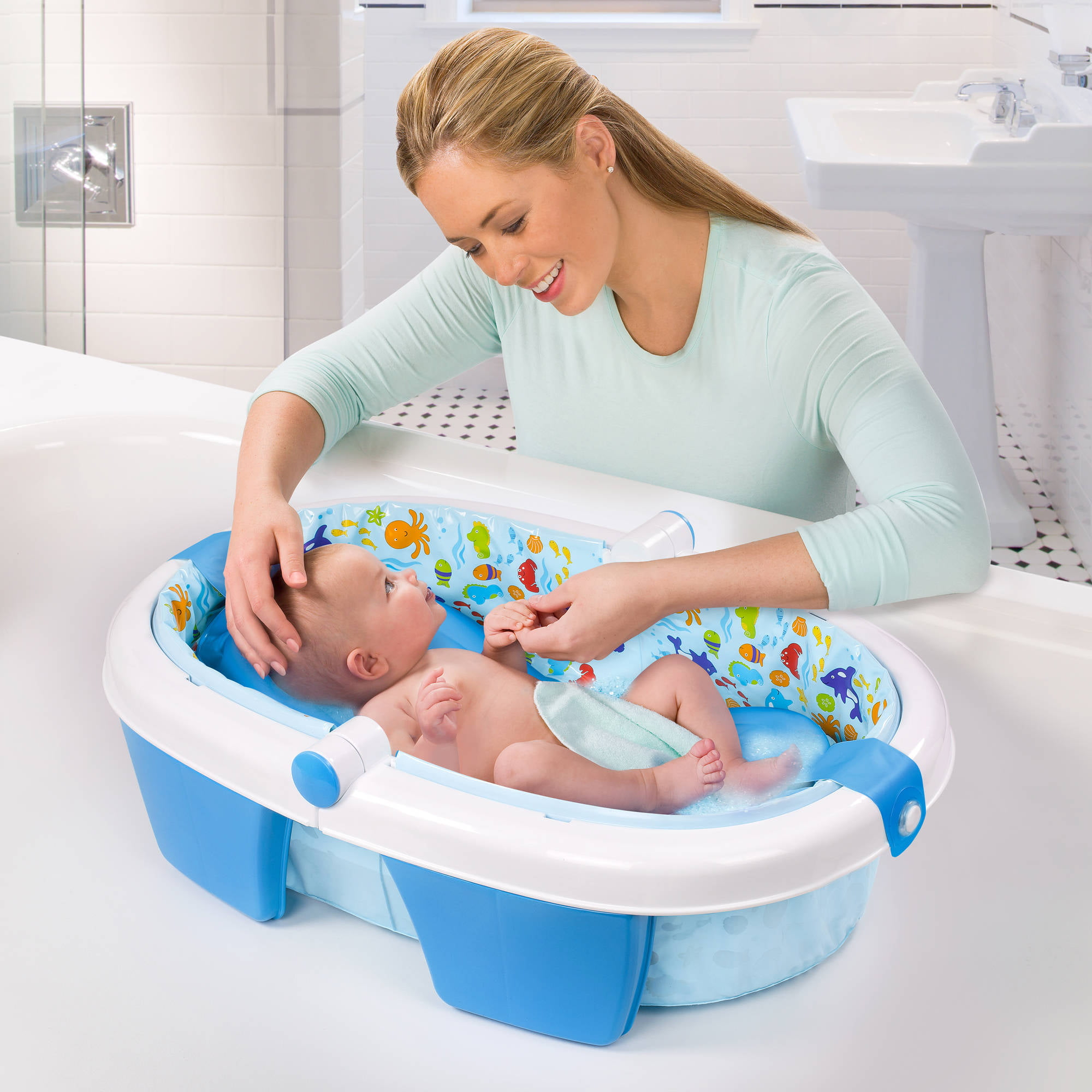 summer infant foldaway baby bath - walmart