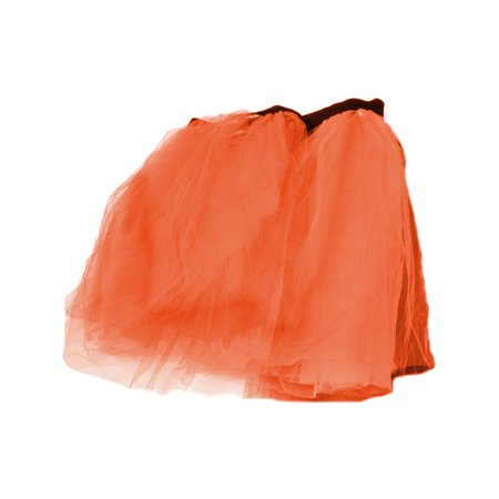 Orange Retro 80s Colorful Neon Assorted Color Tu Tu Tutu Skirt Costume Accessory - Accessories From The 80s