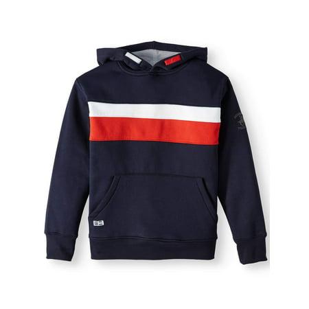 d6395baa9817 Beverly Hills Polo Club - Colorblock Fleece Pullover Hoodie Sweatshirt  (Little Boys   Big Boys) - Walmart.com