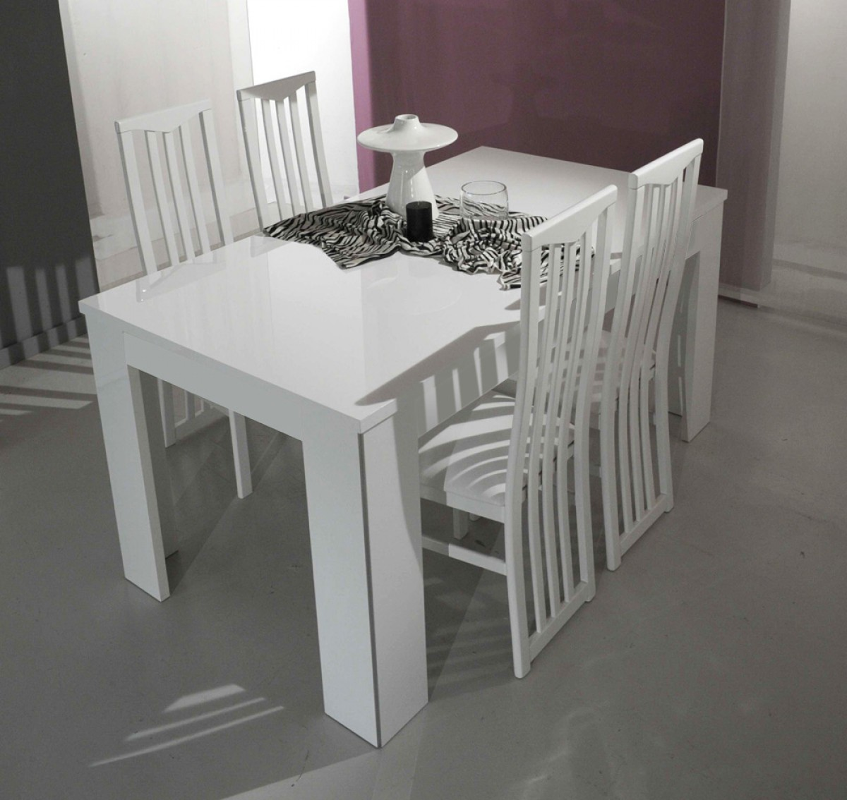 1PerfectChoice Modrest Modern Rectangular White Italian Dining Table