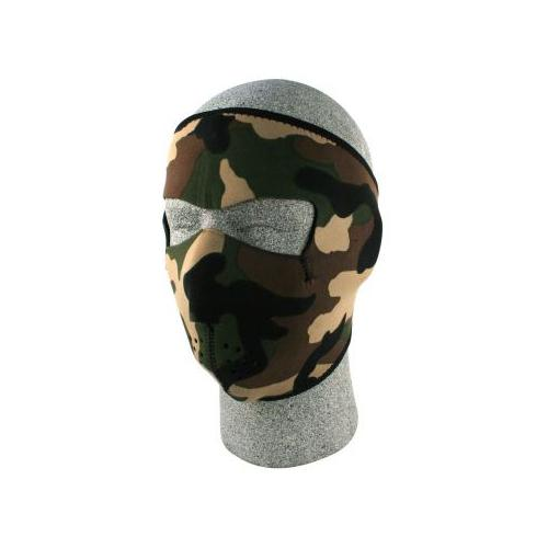 NEOPRENE FACE MASK, WOODLAND CAMOUFLAGE by Balboa