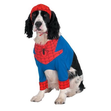 Disguise Pets 'Amazing Spider-Man' Super Hero Costume, Red/Blue/Black, - Spiderman Dog
