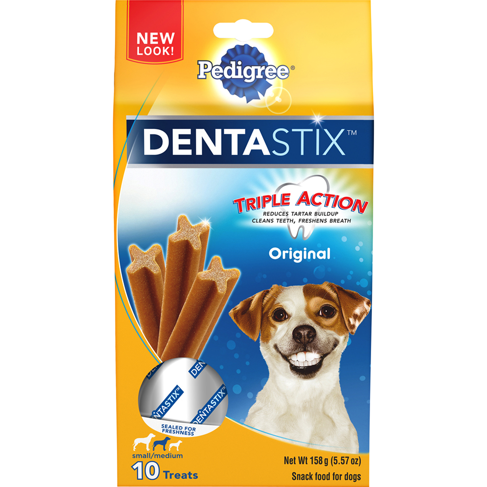 PEDIGREE DENTASTIX Original Small/Medium Treats for Dogs - 5.57 Ounces 10 Treats