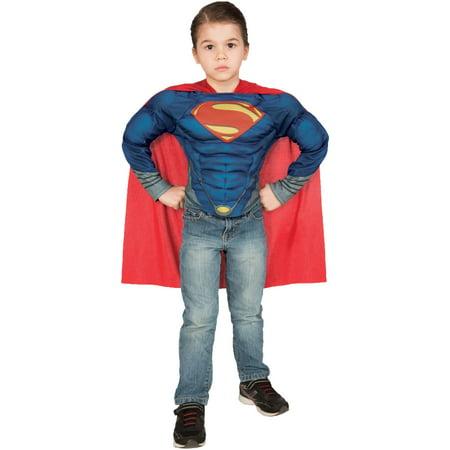 Superman Teen Costume (Superman Muscle Shirt Set Child Halloween)