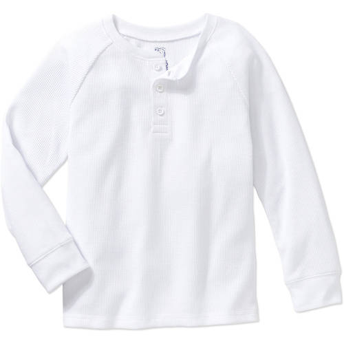 365 Kids From Garanimals Boys' Long Sleeve Solid Thermal Henley thumbnail