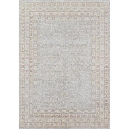 Momeni Isabella Polyester Machine Made Grey Area Rug 5'3