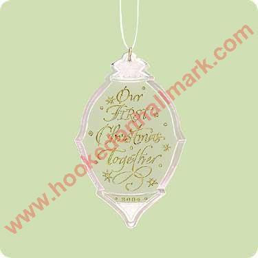 Hallmark Our First Christmas Ornament.Hallmark Ornament 2004 Our First Christmas Together Acrylic