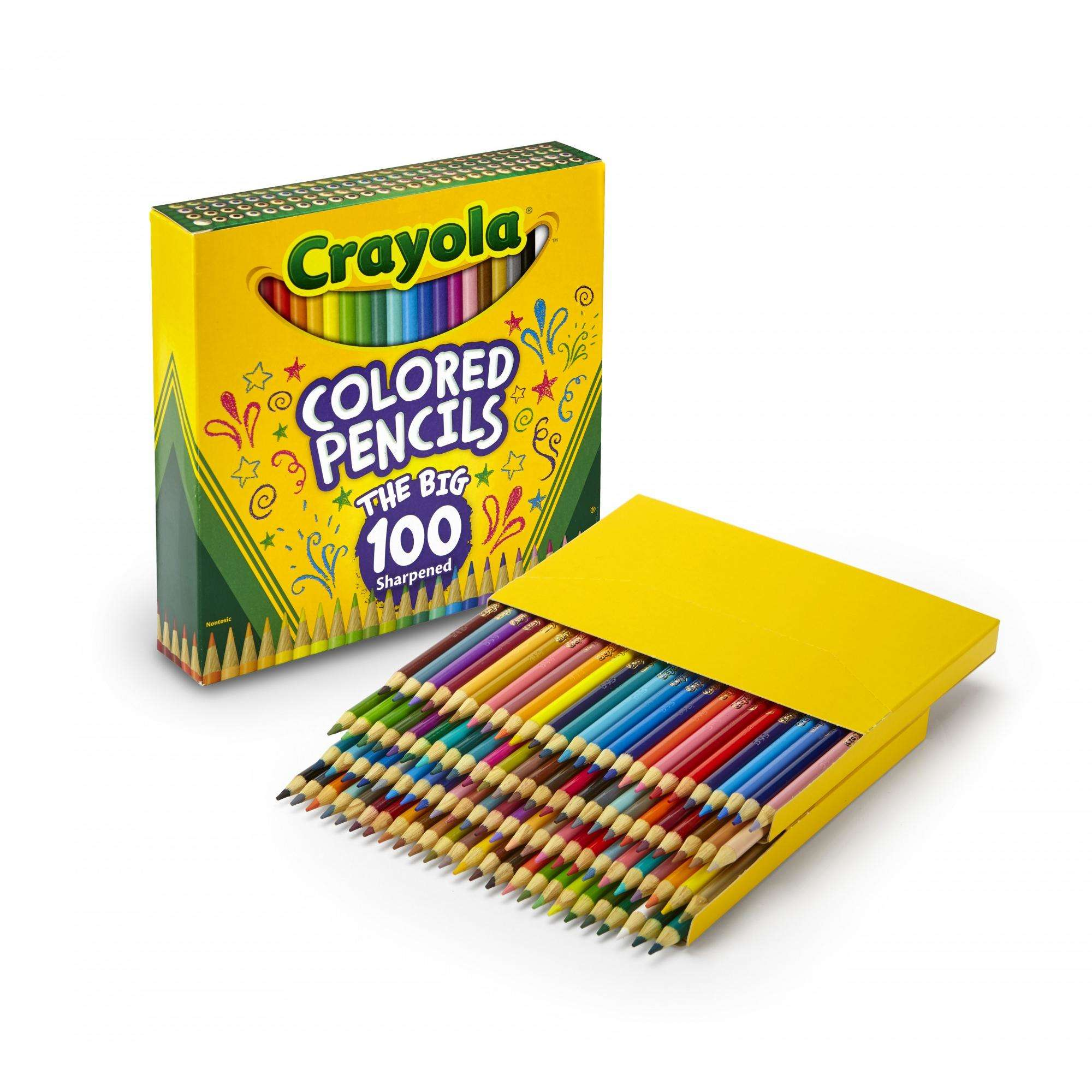 Crayola Colored Pencils in 100 Different Colors, Pre Sharpened