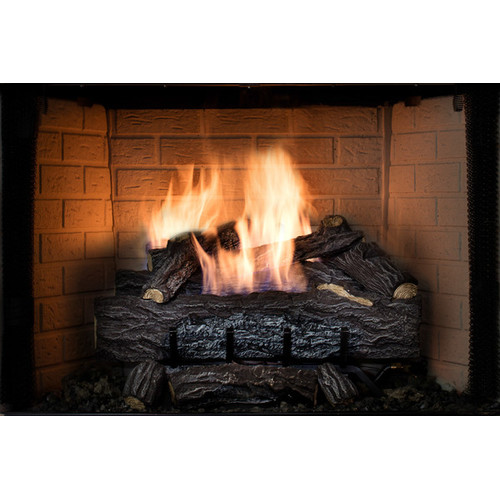 SureHeat Four Seasons Golden Eclipse Vent-Free Remote Burner and Log Set Natural Gas