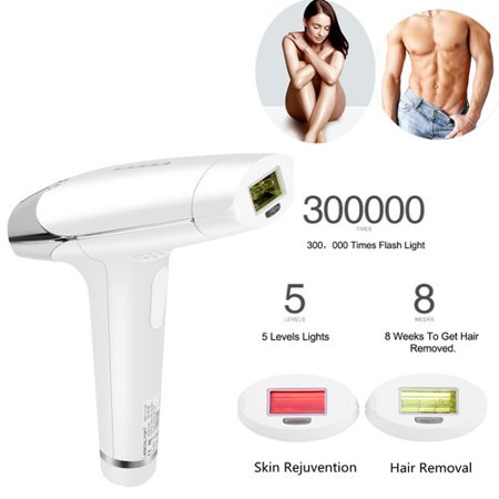 IPL (Intense Pulsed Light) 2 in 1 Laser Hair Removal System 300,000 Flashes - FACE & BODY - Women & men, Mini Permanent Painless Hair Removal Skin Rejuvention