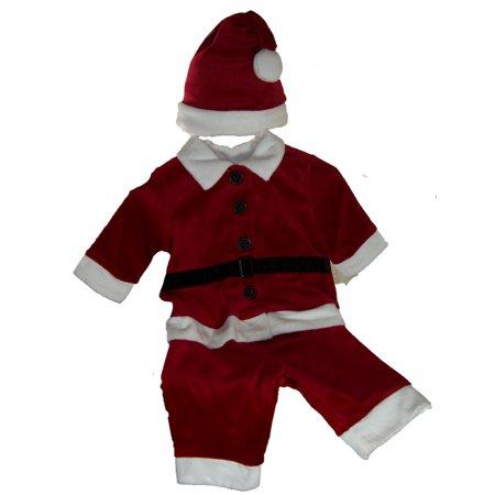 Santa Suit 3 Piece For Baby Boy Or Girl Size 6-9 MO - Boys Santa Suit
