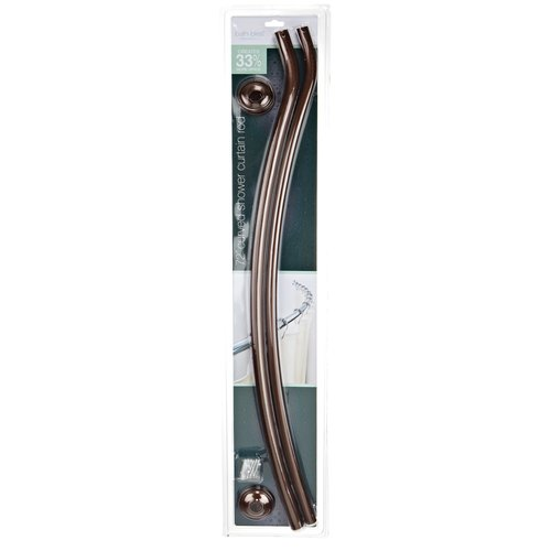 bath bliss curved shower rod oil stained bronze walmart com bath bliss curved shower curtain rod