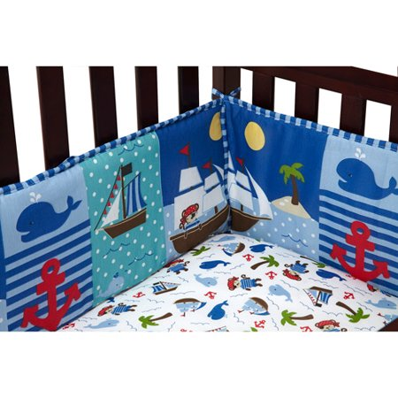 Little Bedding by NoJo Baby Buccaneer Crib Bumper