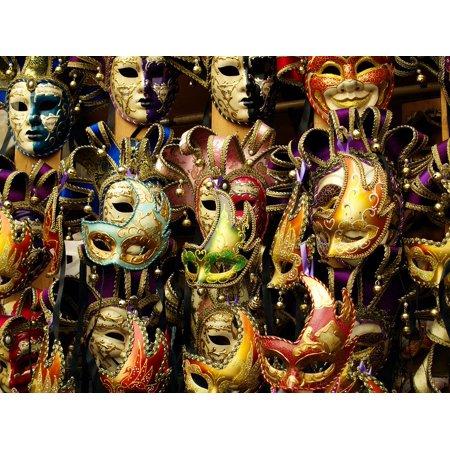 Laminated Poster Mask Italy Carnival Festival Italian Venezia Face Poster Print 11 x 17 - Italian Festival Decorations