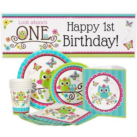 Owl 1st Birthday Party Package For 16