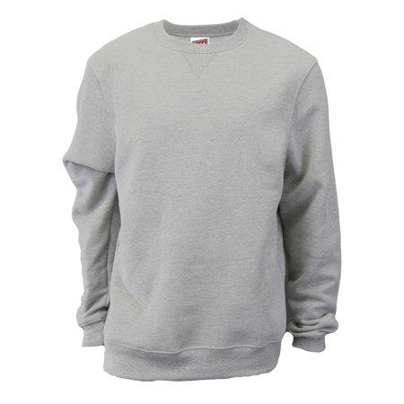 Soffe Men's Fleece Crew Neck Sweatshirt
