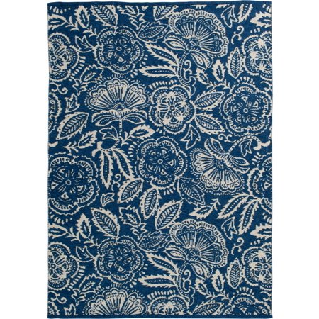 Better Homes & Gardens Midnight Blooms Indoor/Outdoor Area Rug, Multiple Sizes