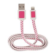 """""""Acoustic Research ARH750PD Acoustic Research ARH750PD Apple Lightning 3 ft Power and Sync Cable - Polka Dot - Lightning/USB for Smartphone - 3 ft - 1 x Lightning Male Proprietary"""