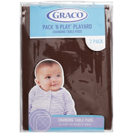 Graco Pack N Play Changing Table Pad Covers 2pk Brown