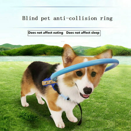 Blind Dog Harness Vest Blind Dogs Protective Vest Ring for Dogs with Sick Eyes Pet Prevent Collision