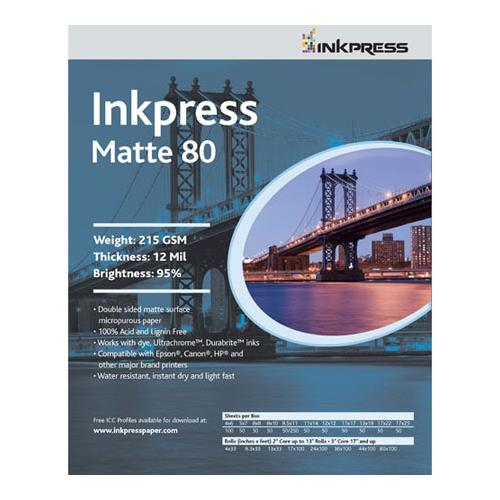 "Duo Matte 80 Inkjet Paper, 215 gsm Weight, 12 mil Thickness, 95% Brightness, Double Sided, 11x14"", 100 Sheets"