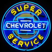Neonetics Super Chevy Service Neon Sign with Backing