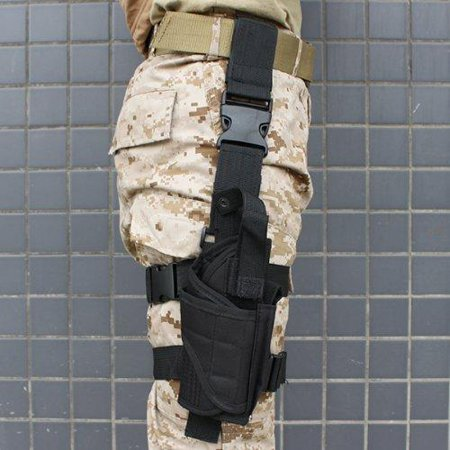 AGPtek Tactical Black Pistol/Gun Drop Leg Thigh Holster
