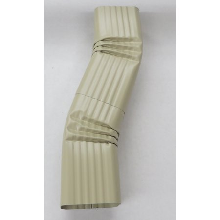 Aluminum Offset Downspout Elbow (3x4 B, WICKER)