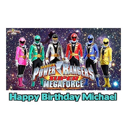 Power Rangers Super Mega Force Image Photo Cake Topper Sheet Personalized Custom Customized Birthday Party - 1/4 Sheet - 79803 - Power Ranger Cakes