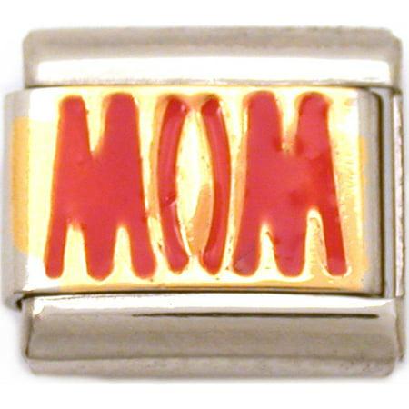 Mom Italian Charm Enamel Mother   9mm Child 9mm Birthstone Italian Charm