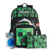 Minecraft Creeper 5 Piece Backpack Set