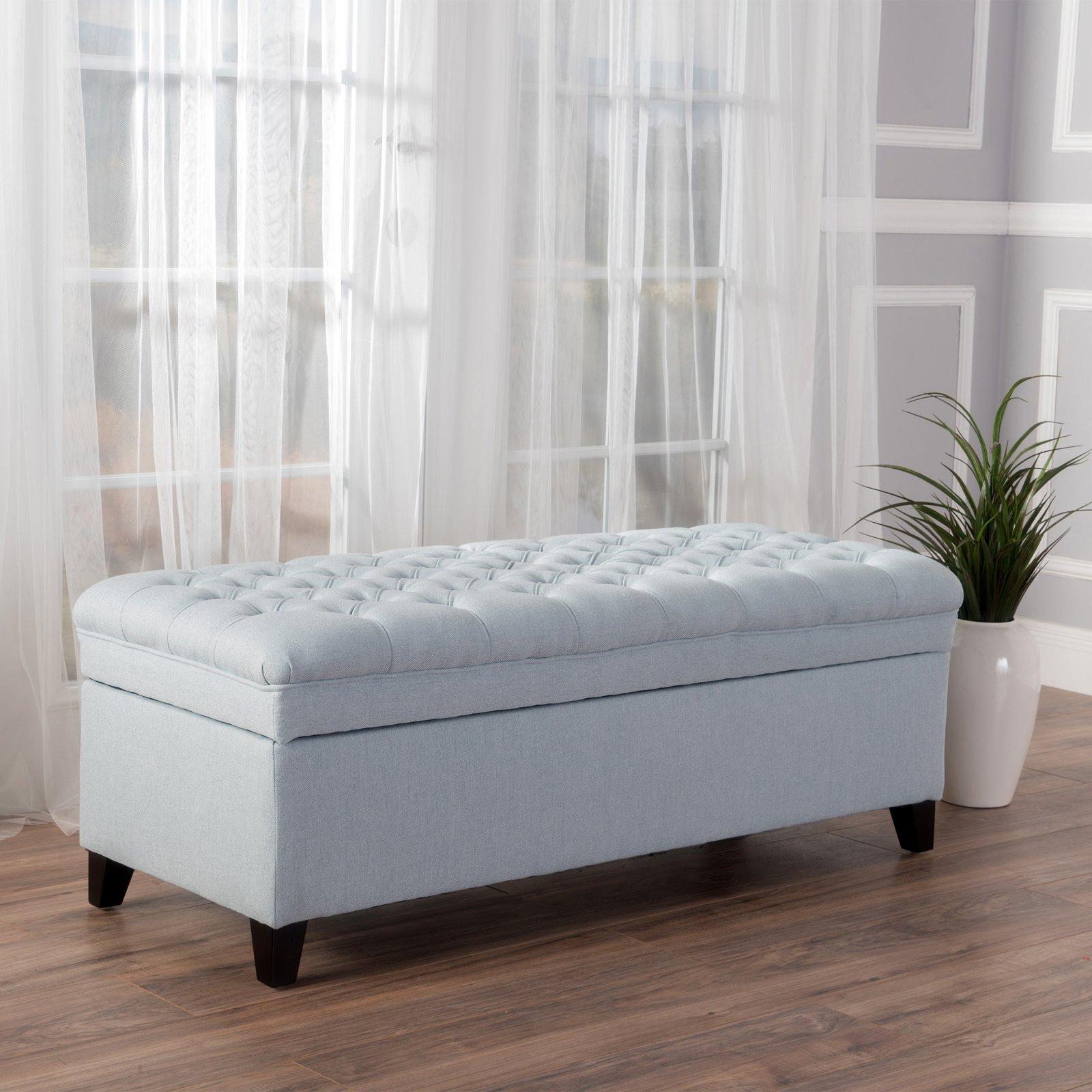Logan Fabric Storage Indoor Bench