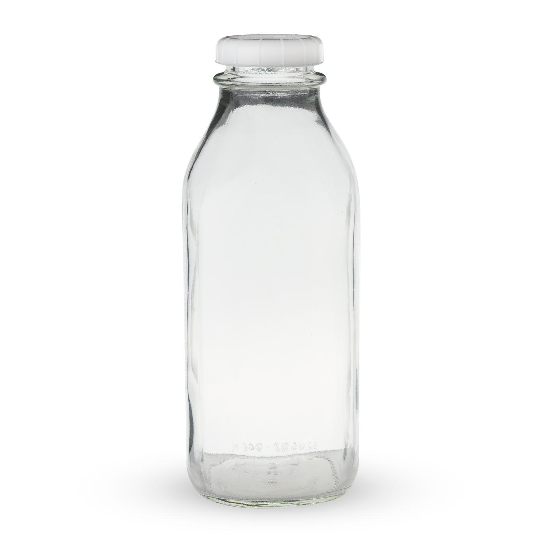 Libbey Glass Milk Bottle with Lid - 33.5 oz - Walmart.com