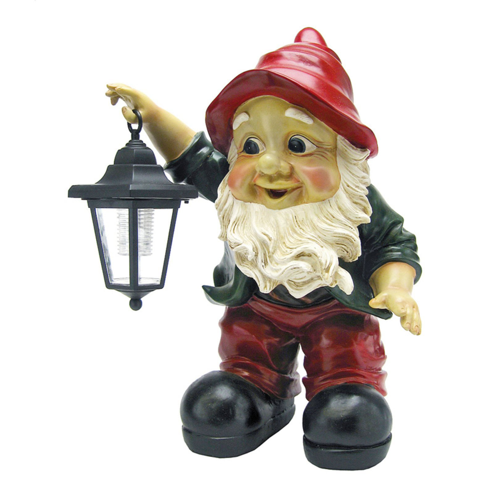 Design Toscano Edison with the Lighted Lantern Garden Gnome Statue by Design Toscano