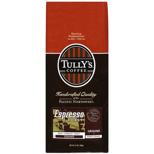 Tully's Coffee Espresso Roast Grand Ground Coffee, 12 oz